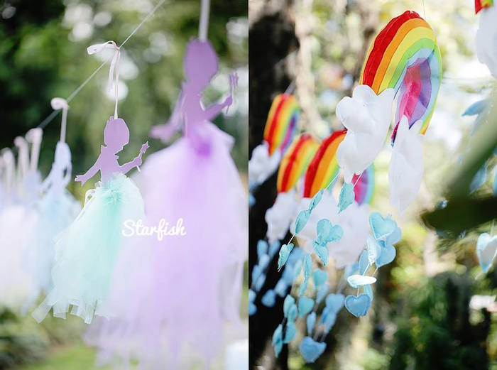 Garlands from a Pastel Girly Wonderland + Rainbow Birthday Party via Kara's Party Ideas KarasPartyIdeas.com (13)