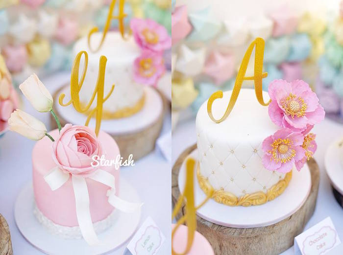 Cakes from a Pastel Girly Wonderland + Rainbow Birthday Party via Kara's Party Ideas KarasPartyIdeas.com (11)