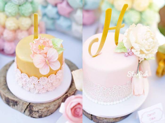 Cakes from a Pastel Girly Wonderland + Rainbow Birthday Party via Kara's Party Ideas KarasPartyIdeas.com (4)