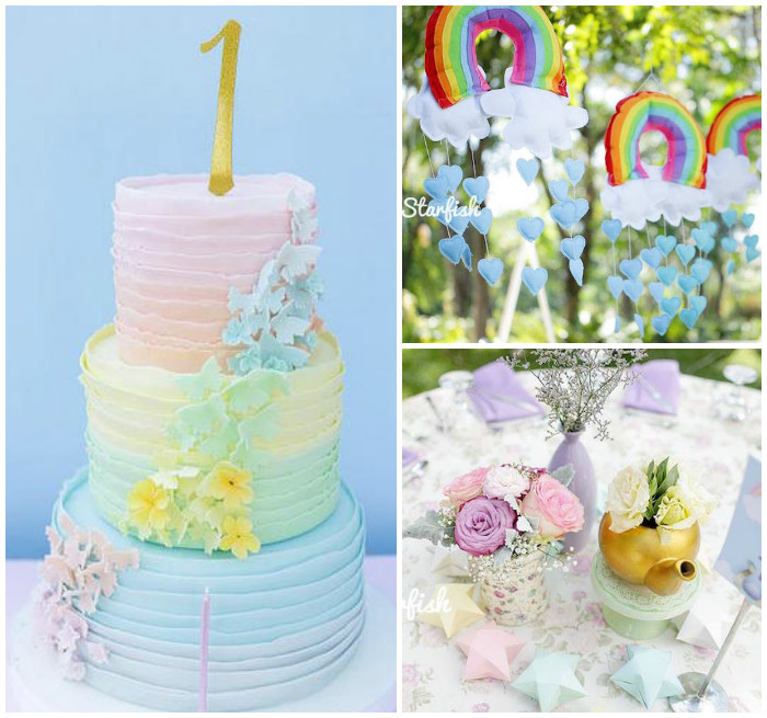 Pastel Girly Wonderland + Rainbow Birthday Party via Kara's Party Ideas KarasPartyIdeas.com (2)
