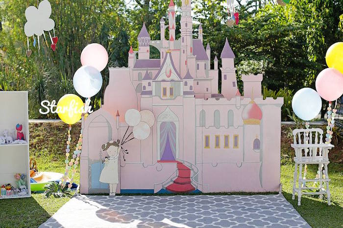 Castle from a Pastel Girly Wonderland + Rainbow Birthday Party via Kara's Party Ideas KarasPartyIdeas.com (33)