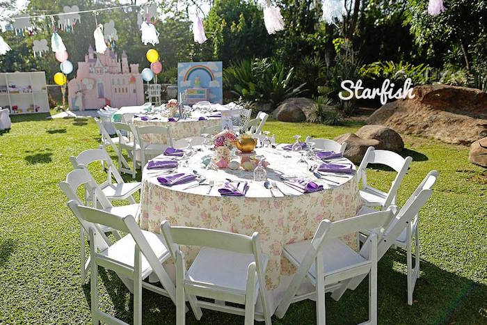 Guest Table from a Pastel Girly Wonderland + Rainbow Birthday Party via Kara's Party Ideas KarasPartyIdeas.com (31)