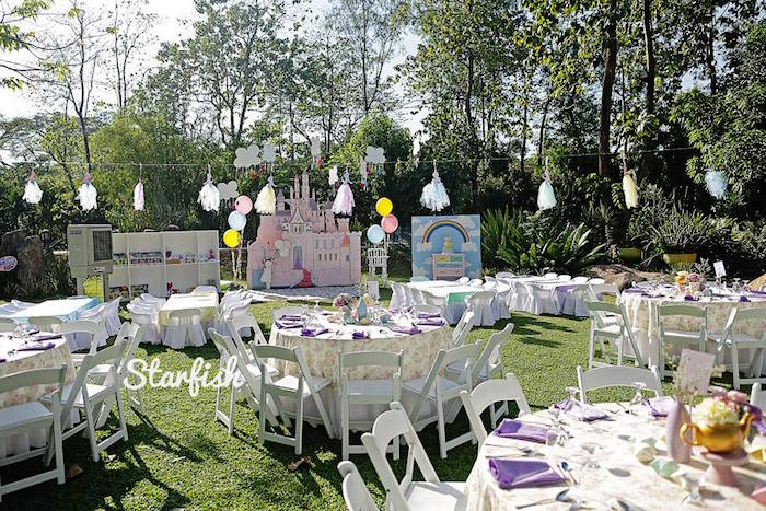 Partyscape from a Pastel Girly Wonderland + Rainbow Birthday Party via Kara's Party Ideas KarasPartyIdeas.com (29)
