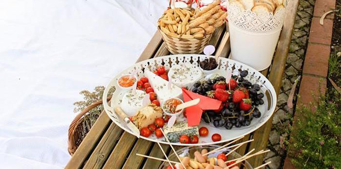 Snacks from a Picnic Themed Birthday Party via Kara's Party Ideas | KarasPartyIdeas.com (1)