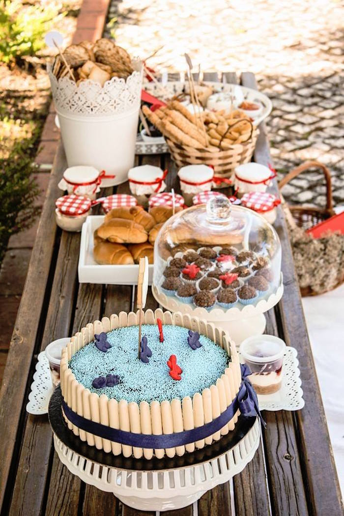 Cake + Sweets + Snacks from a Picnic Themed Birthday Party via Kara's Party Ideas   KarasPartyIdeas.com (13)