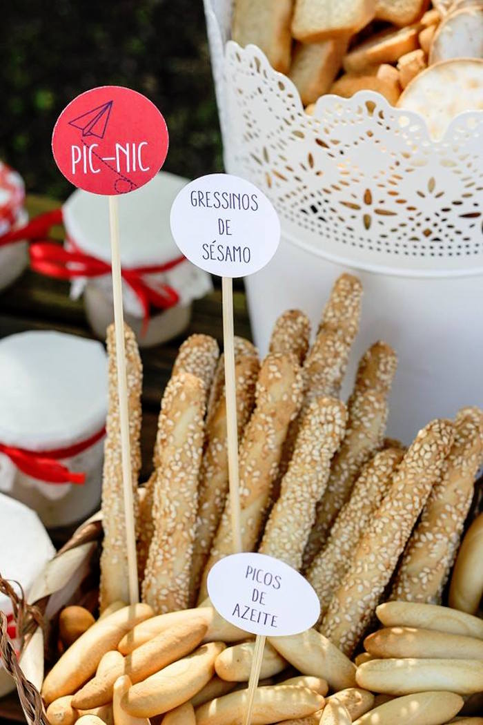 Pretzel Sticks from a Picnic Themed Birthday Party via Kara's Party Ideas   KarasPartyIdeas.com (12)