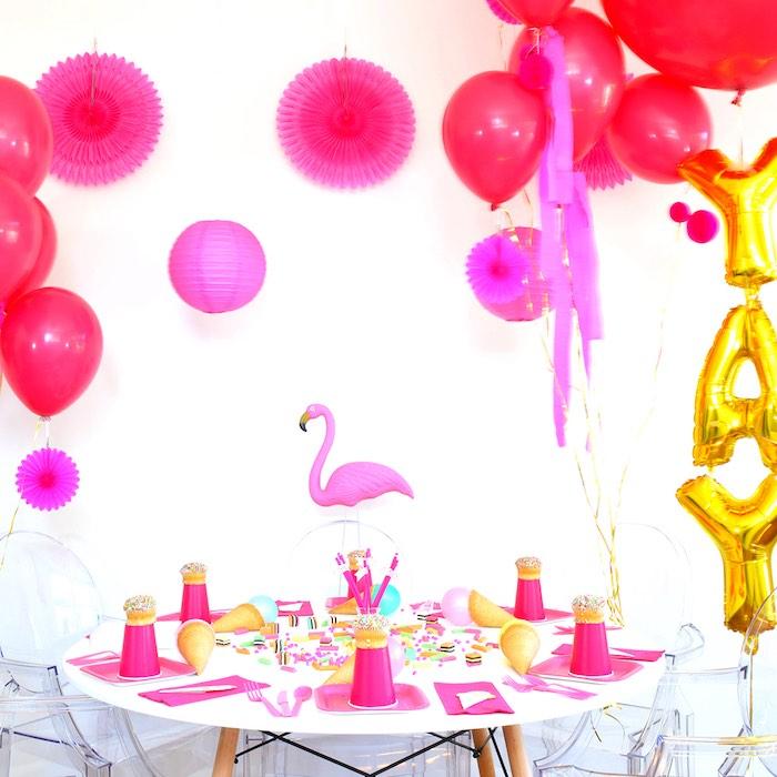 Flamingo Table from a Pink Flamingo Birthday Party via Kara's Party Ideas | KarasPartyIdeas.com (6)