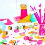 Table Detail from a Pink Flamingo Birthday Party via Kara's Party Ideas | KarasPartyIdeas.com (1)