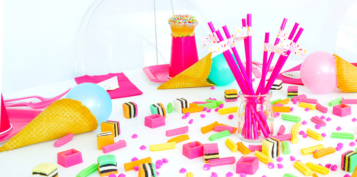 Table Detail from a Pink Flamingo Birthday Party via Kara's Party Ideas | KarasPartyIdeas.com (1)