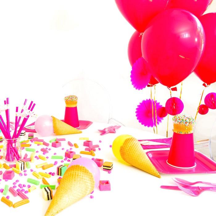 Tablescape Detail from a Pink Flamingo Birthday Party via Kara's Party Ideas | KarasPartyIdeas.com (15)