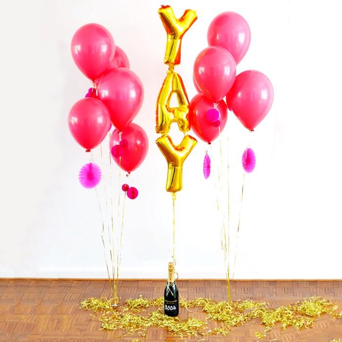 Balloons from a Pink Flamingo Birthday Party via Kara's Party Ideas | KarasPartyIdeas.com (14)