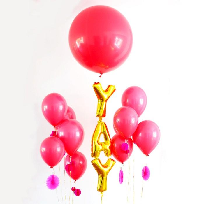 Balloons from a Pink Flamingo Birthday Party via Kara's Party Ideas | KarasPartyIdeas.com (9)