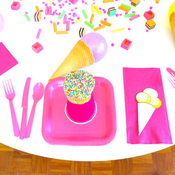 Pink Place Setting from a Pink Flamingo Birthday Party via Kara's Party Ideas | KarasPartyIdeas.com (7)