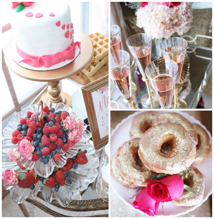 Pink + Gold Galentines Valentines Party via Kara's Party Ideas | KarasPartyIdeas.com | The Place for All Things Party! (1)