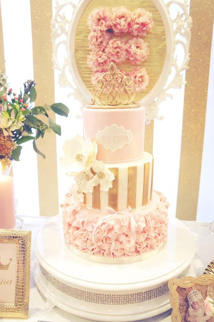 Kara's Party Ideas Pink & Gold Princess Party | Kara's ...