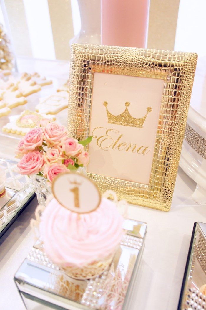 Sign from a Pink & Gold Princess Party via Kara's Party Ideas | KarasPartyIdeas.com (15)