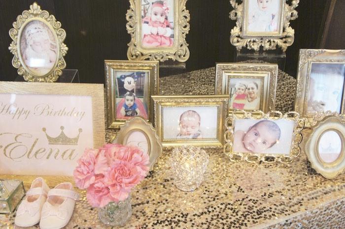 Framed Photos from a Pink & Gold Princess Party via Kara's Party Ideas | KarasPartyIdeas.com (10)