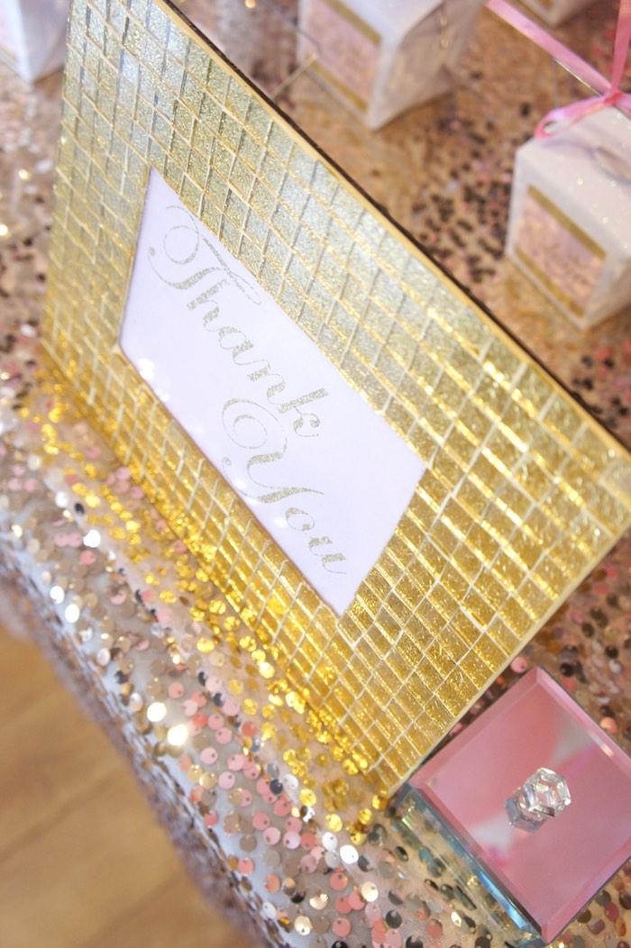 Sign from a Pink & Gold Princess Party via Kara's Party Ideas | KarasPartyIdeas.com (7)