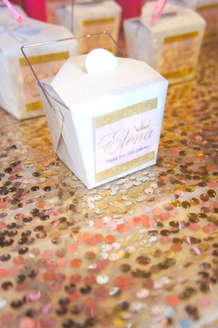 Favor Box from a Pink & Gold Princess Party via Kara's Party Ideas | KarasPartyIdeas.com (6)