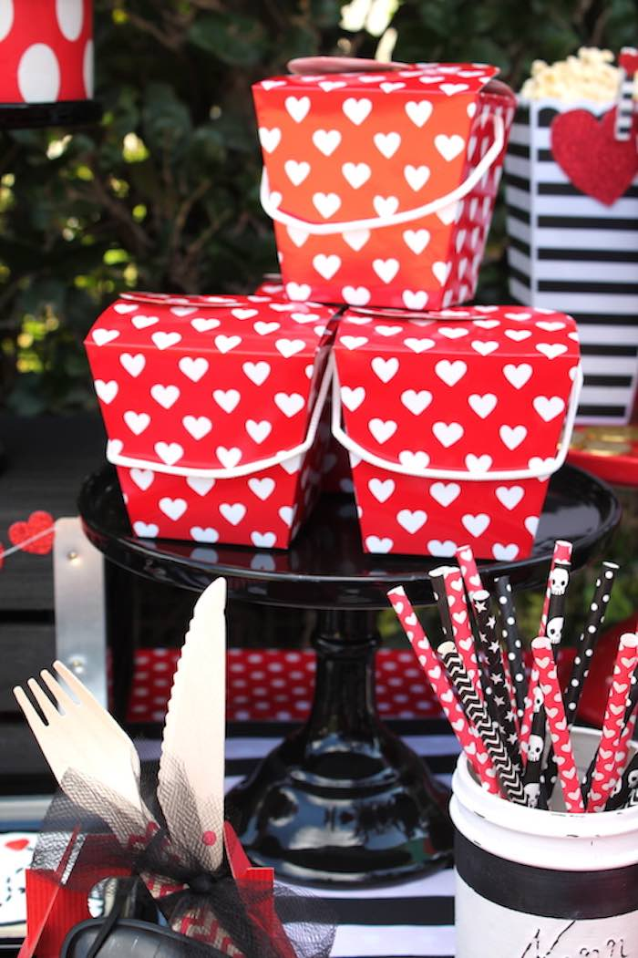 Chinese Favor Boxes from a Pirate Themed Valentine Party via Kara's Party Ideas KarasPartyIdeas.com (19)