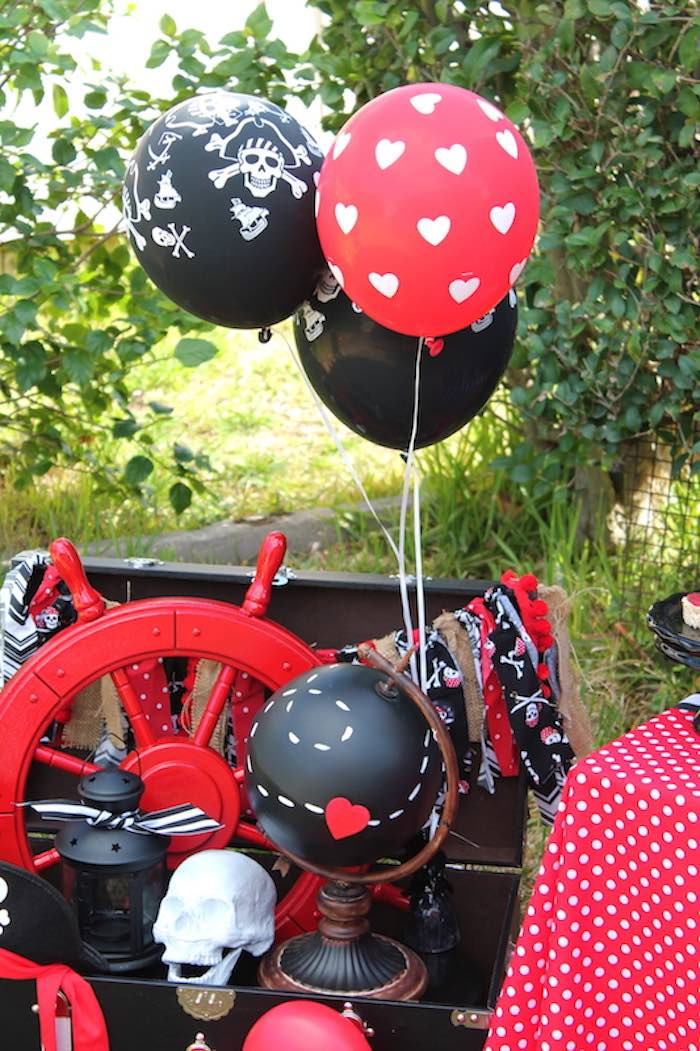 Decor + Balloons from a Pirate Themed Valentine Party via Kara's Party Ideas KarasPartyIdeas.com (15)
