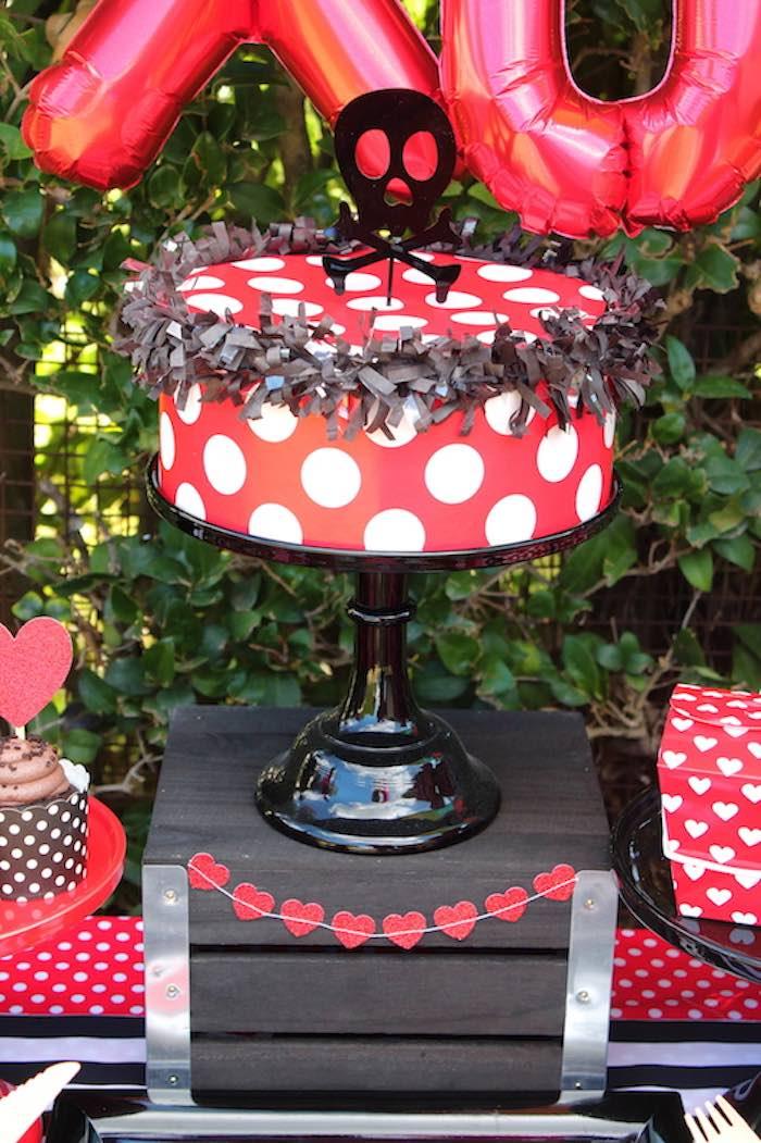 Cake from a Pirate Themed Valentine Party via Kara's Party Ideas KarasPartyIdeas.com (14)