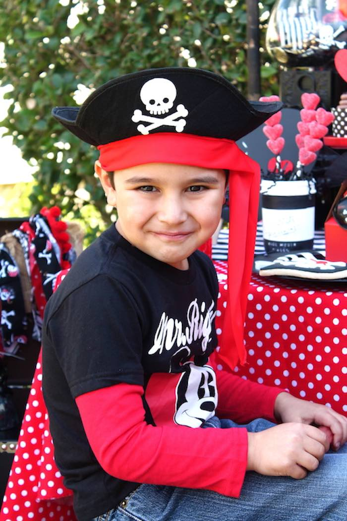 Little Pirate from a Pirate Themed Valentine Party via Kara's Party Ideas KarasPartyIdeas.com (6)