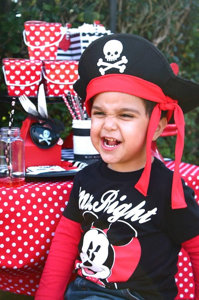 Party Guest enjoying a Pirate Themed Valentine Party via Kara's Party Ideas KarasPartyIdeas.com (4)