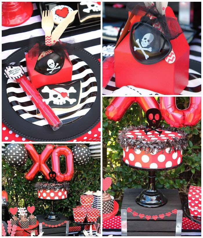 Pirate Themed Valentine Party Via Karau0027s Party Ideas KarasPartyIdeas.com (3)