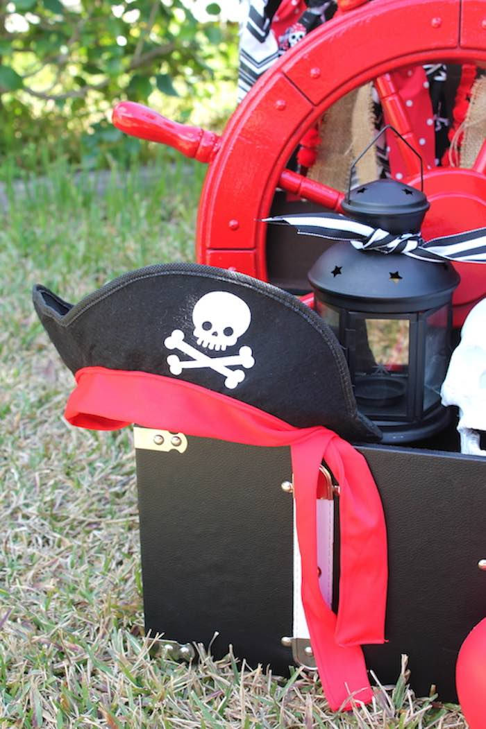 Pirate Hat + Decor from a Pirate Themed Valentine Party via Kara's Party Ideas KarasPartyIdeas.com (29)