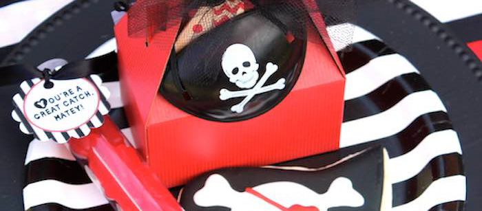 Favor Box from a Pirate Themed Valentine Party via Kara's Party Ideas KarasPartyIdeas.com (2)