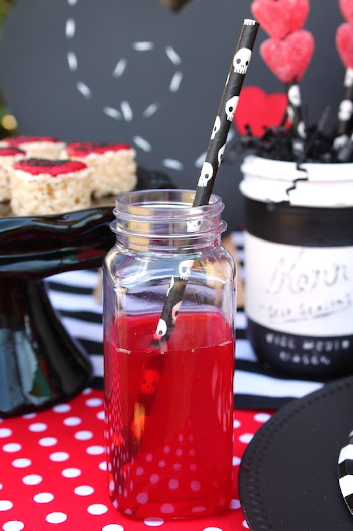 Drink from a Pirate Themed Valentine Party via Kara's Party Ideas KarasPartyIdeas.com (26)