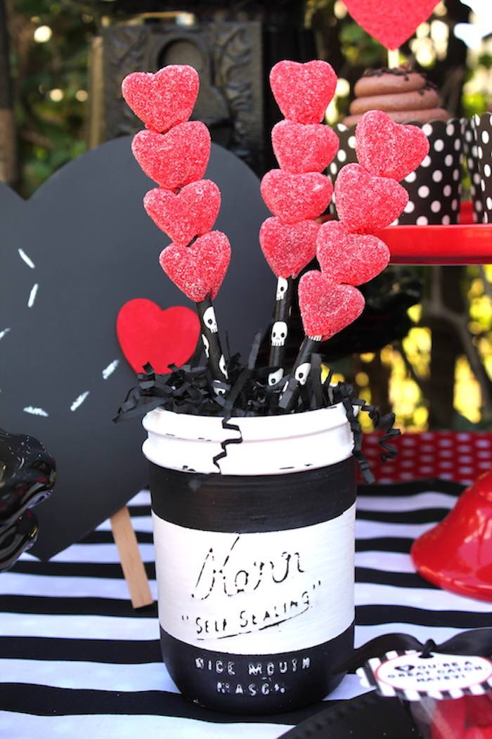 Gummy Heart Kabobs from a Pirate Themed Valentine Party via Kara's Party Ideas KarasPartyIdeas.com (25)