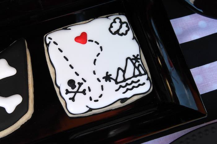 Treasure Map Cookie from a Pirate Themed Valentine Party via Kara's Party Ideas KarasPartyIdeas.com (22)