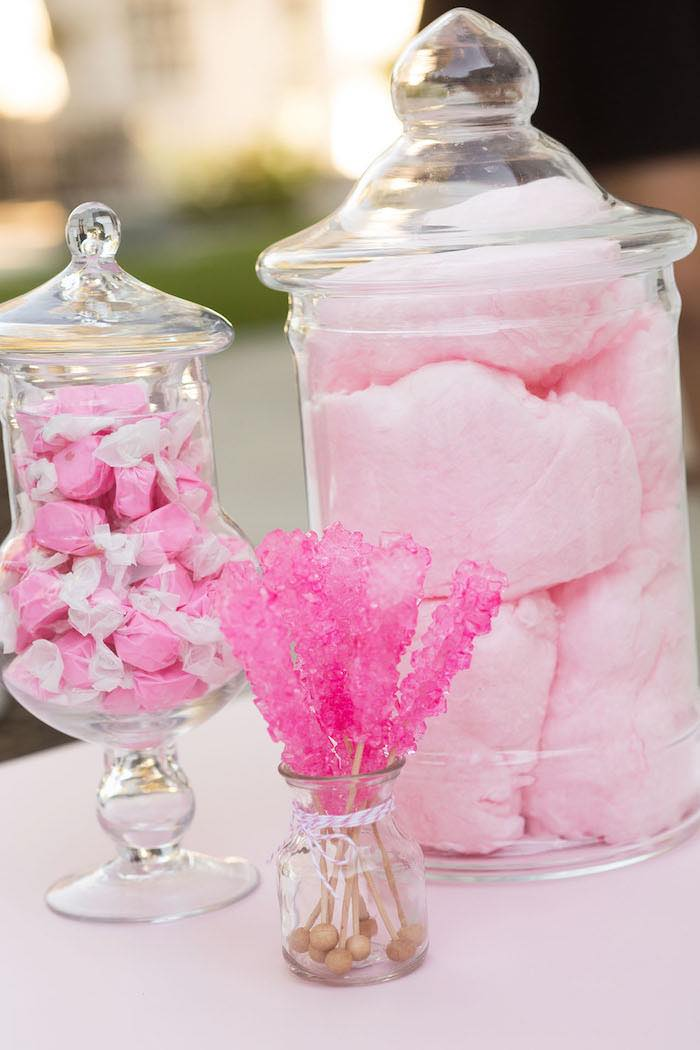 Mini Candy Buffet from a Pretty In Pink 14th Birthday Party via Kara's Party Ideas | KarasPartyIdeas.com (22)