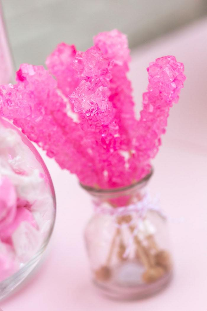 Rock Candy Sticks from a Pretty In Pink 14th Birthday Party via Kara's Party Ideas | KarasPartyIdeas.com (20)