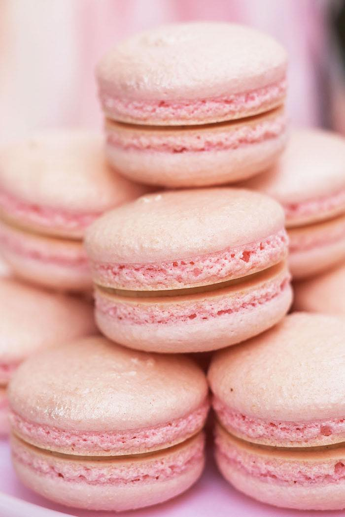 Pink Macarons from a Pretty In Pink 14th Birthday Party via Kara's Party Ideas | KarasPartyIdeas.com (15)