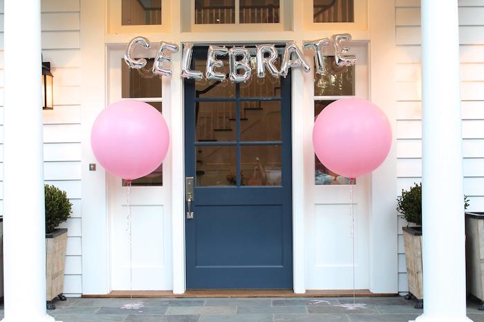 Entrance to a Pretty In Pink 14th Birthday Party via Kara's Party Ideas | KarasPartyIdeas.com (5)