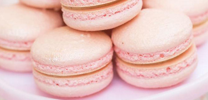 Macarons from a Pretty In Pink 14th Birthday Party via Kara's Party Ideas | KarasPartyIdeas.com (2)