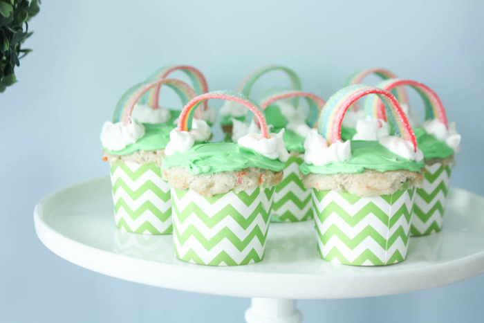 Cupcakes from a Rainbow St. Patrick's Day Party via Kara's Party Ideas KarasPartyIdeas.com (22)