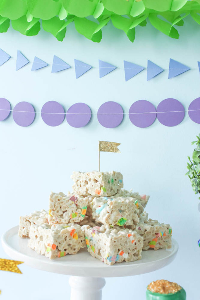 Krispie Treats from a Rainbow St. Patrick's Day Party via Kara's Party Ideas KarasPartyIdeas.com (20)