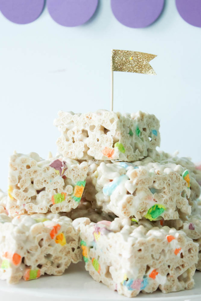 Krispie Treats from a Rainbow St. Patrick's Day Party via Kara's Party Ideas KarasPartyIdeas.com (19)