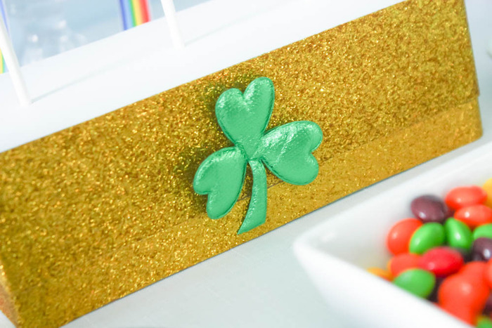 Sweet Stand from a Rainbow St. Patrick's Day Party via Kara's Party Ideas KarasPartyIdeas.com (17)