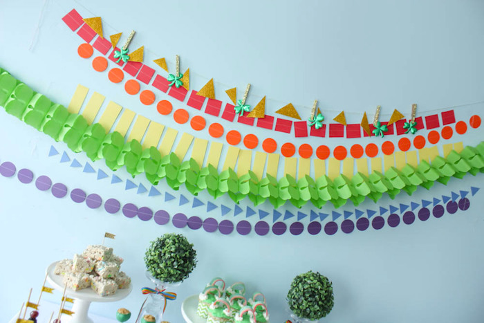 Rainbow Banner from a Rainbow St. Patrick's Day Party via Kara's Party Ideas KarasPartyIdeas.com (15)