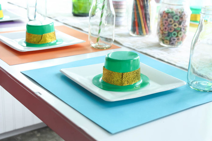Place Setting from a Rainbow St. Patrick's Day Party via Kara's Party Ideas KarasPartyIdeas.com (13)