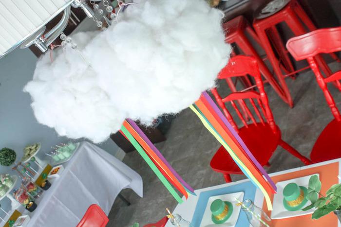 Rainbow Cloud Chandelier from a Rainbow St. Patrick's Day Party via Kara's Party Ideas KarasPartyIdeas.com (10)