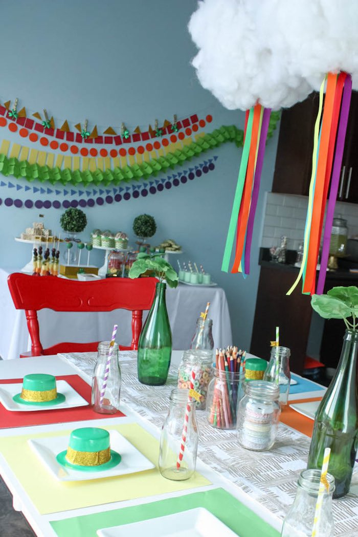 Partyscape from a Rainbow St. Patrick's Day Party via Kara's Party Ideas KarasPartyIdeas.com (9)