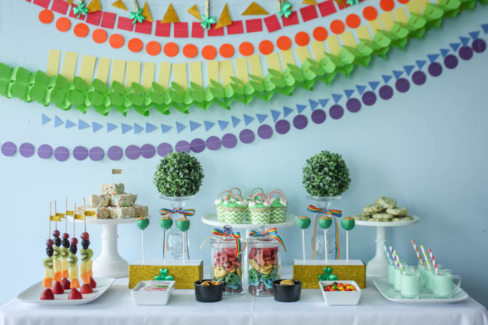 Head Table from a Rainbow St. Patrick's Day Party via Kara's Party Ideas KarasPartyIdeas.com (34)