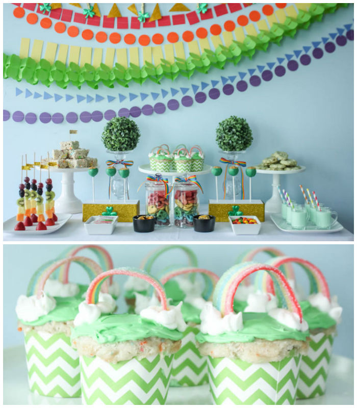 Rainbow St. Patrick's Day Party via Kara's Party Ideas KarasPartyIdeas.com (2)