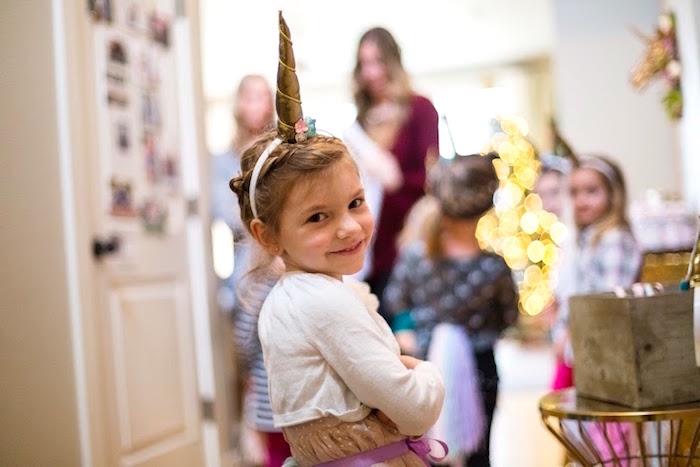 Birthday Girl from a Rainbows & Unicorns Birthday Party via Kara's Party Ideas KarasPartyIdeas.com (5)